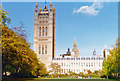 TQ3079 : Westminster, 1996: Palace of Westminster in autumn by Ben Brooksbank