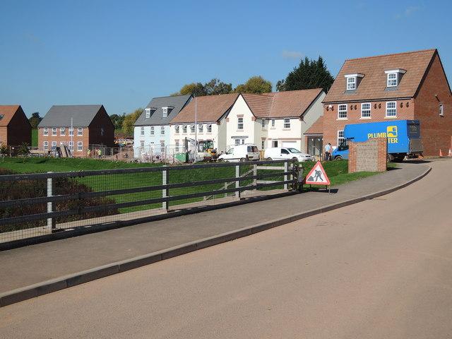 Cullompton: housing off Swallow Way