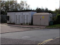 SX9193 : Brunel Close electricity substation, Exeter by Jaggery
