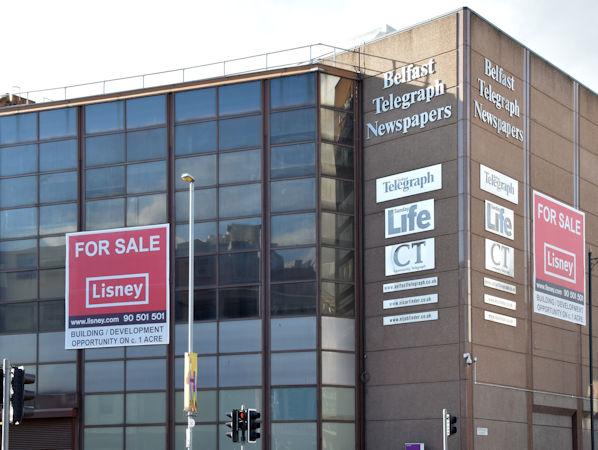 The Belfast Telegraph buildings, Belfast (October 2015)