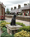 SD7891 : Ruswarp statue, Garsdale Station by Bill Harrison