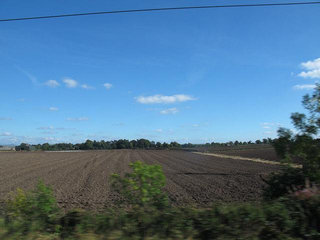 Ploughed field at Jodrell Bank farm