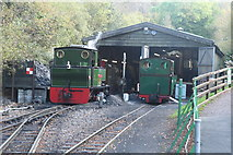 SS6846 : Engine shed on the Lynton and Barnstaple Railway by Martin Bodman