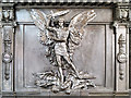 SJ8398 : LYR War Memorial at Manchester Victoria Station, St Michael by David Dixon