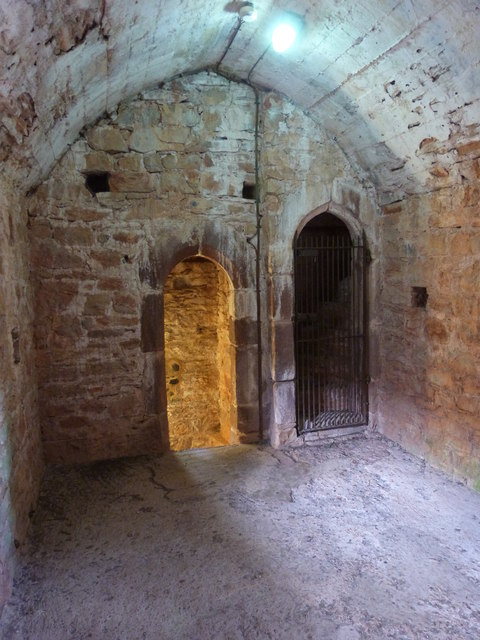Room at the top of the spiral staircase, Compton Castle