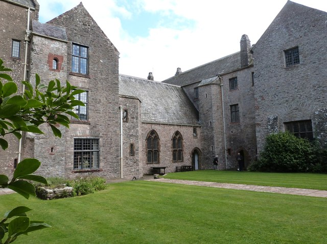 The Chapel and Courtyard Green, Compton Castle