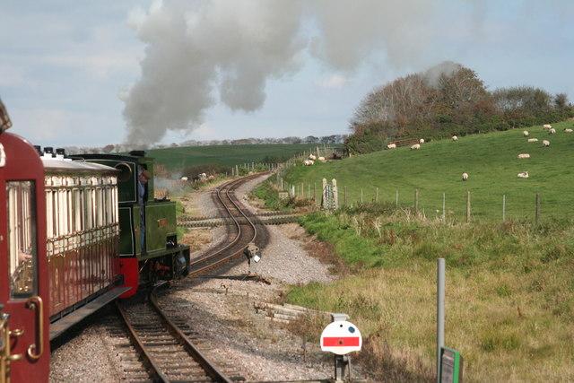 Lynton and Barnstaple Railway: leaving Killington Lane