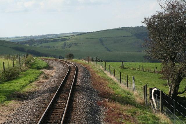 Track on the Lynton and Barnstaple