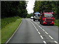 TL8388 : Lorries on the A134 by David Dixon
