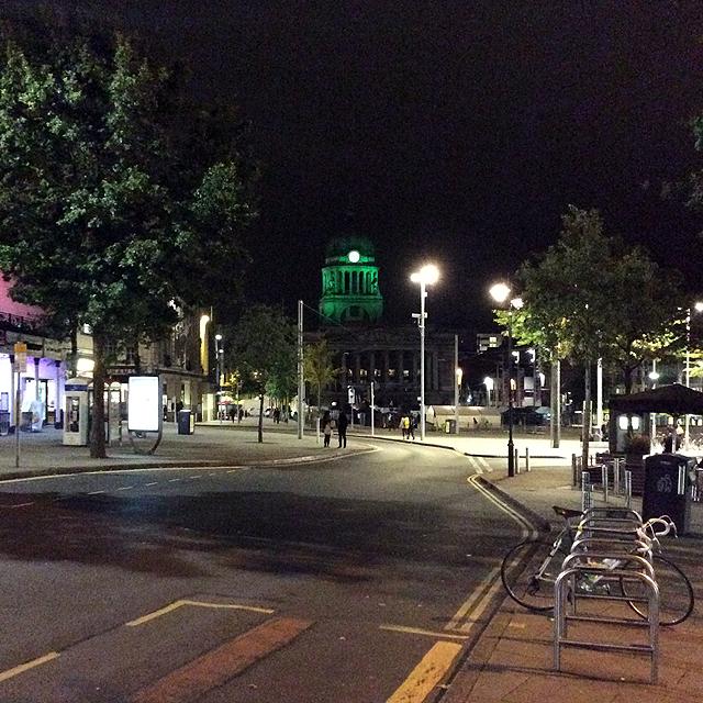 Angel Row on a September evening