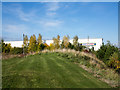 NZ3214 : Landscaped area beside Woodlands Hospital by Trevor Littlewood