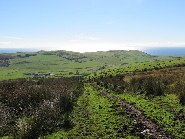Rough farm track above High Cattadale Farm