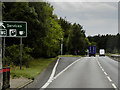 TL8584 : Thetford Bypass, Exit for Services by David Dixon