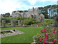 SX8664 : Looking at the rear of Compton Castle from the garden by Derek Voller