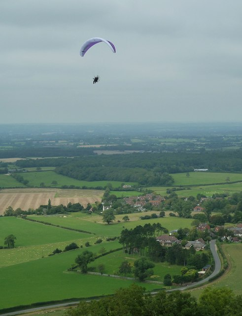 Powered parachute passes Poynings
