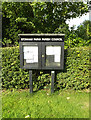 TM1160 : Stonham Parva Village Notice Board by Adrian Cable