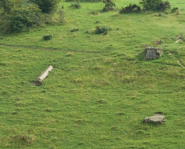 Devil's Dyke - remnants of cable car pylon bases