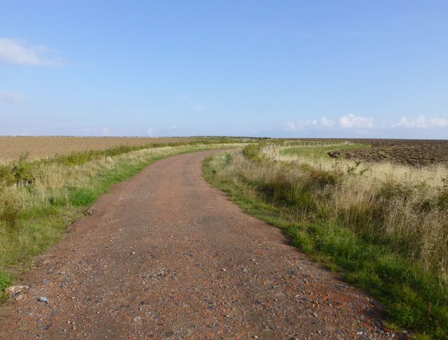 Road over reclaimed land after opencast coal mining
