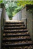 SJ6903 : Footbridge over Legges Way by Stephen McKay