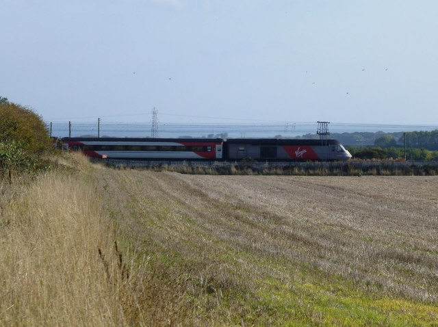 Virgin train heading south