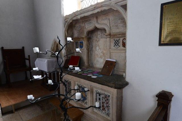Tasburgh: St Mary the Virgin Church: Memorial in the sanctuary