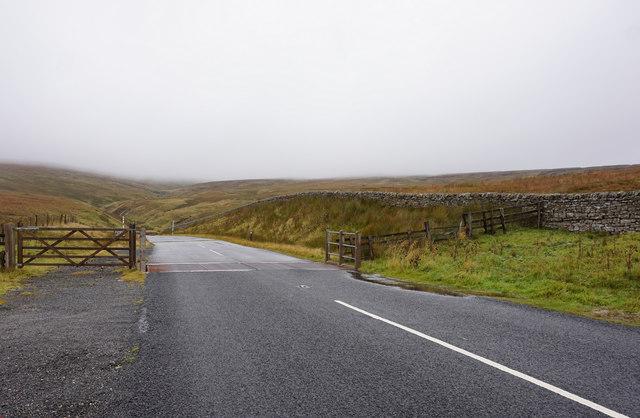 Cattle grid on the B6277 near Ashgill Head