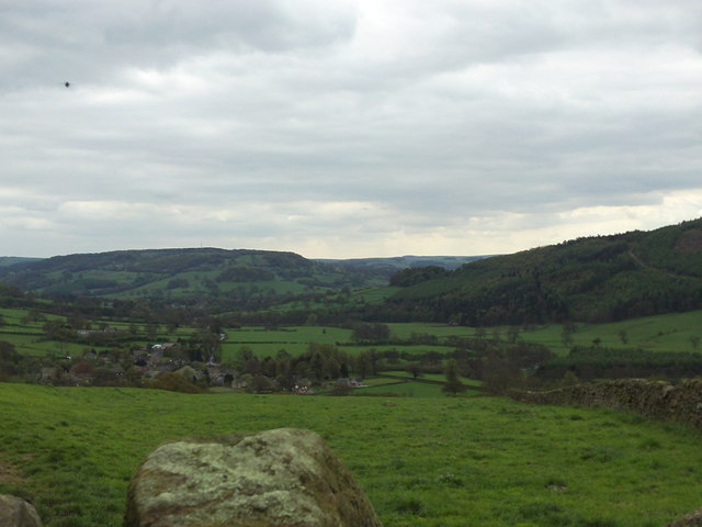Beeley and the hills