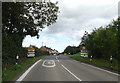 TM1359 : Entering Stonham Aspal on the A1120 Stowmarket Road by Adrian Cable