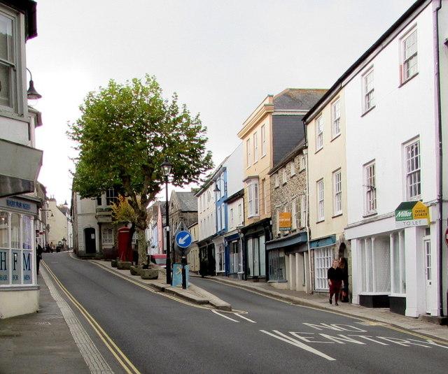 Higher Market Street and Lower Market Street, Penryn