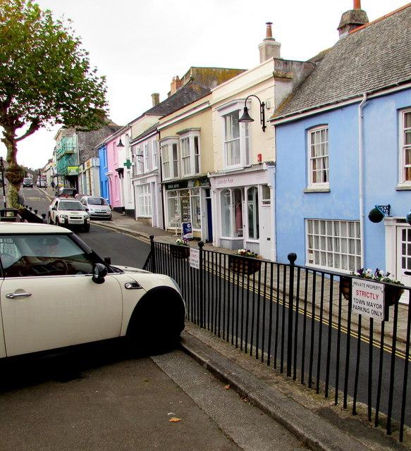 Town Mayor and Town Clerk parking spaces, Penryn