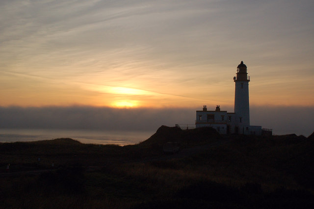 A Foggy Sunset at Turnberry