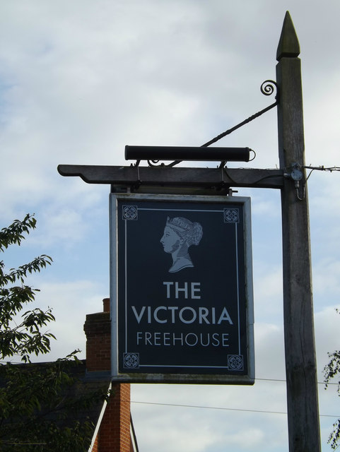 The Victoria Public House sign