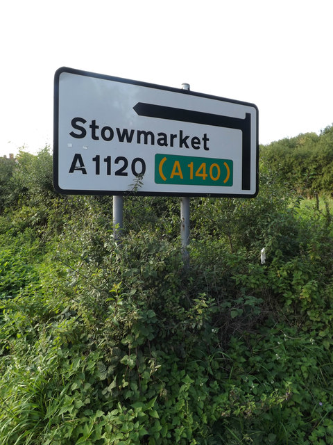 Roadsign on the A1120 The Street