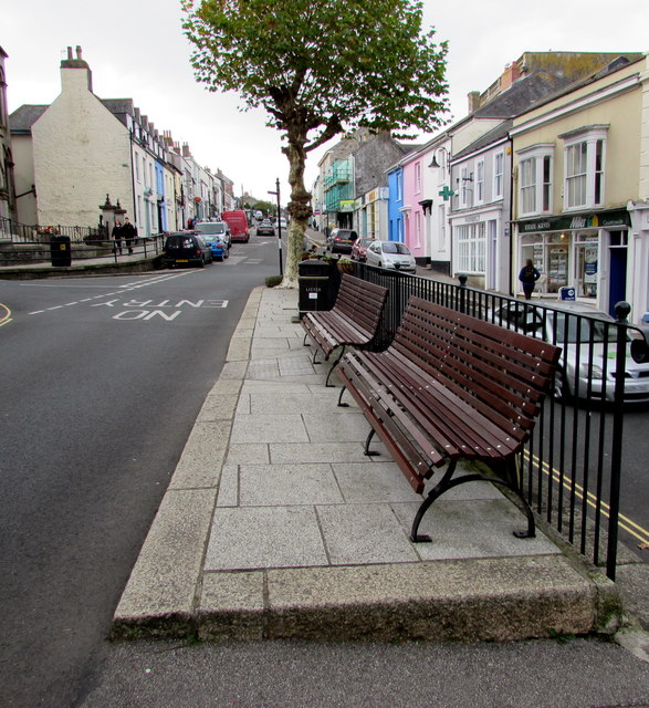 Town centre benches, Penryn