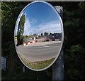 SD4663 : Mirror, Folly railway bridge construction site by Ian Taylor