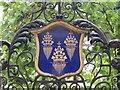 TQ3281 : Crest above a gate in Austin Friars, EC2 by Mike Quinn