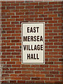 TM0414 : East Mersea Village Hall sign by Adrian Cable