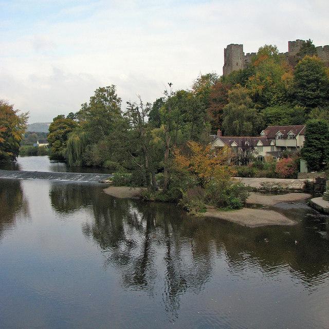 Ludlow: view from Dinham Bridge