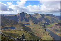 SH6359 : Y Garn from Tryfan's north ridge by Hansjoerg Lipp