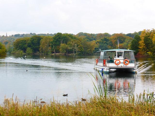 Trentham Lake and boat