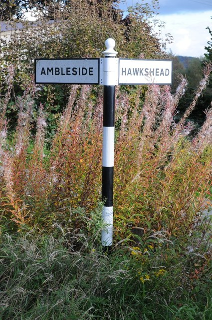 Signpost at Tenter Hill