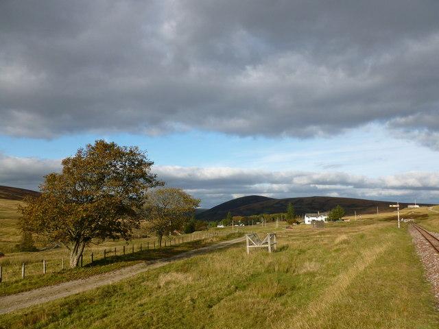 Track by the railway, Leadhills