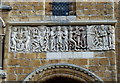SK9771 : Lincoln Cathedral West Front Romanesque Frieze by Mat Fascione