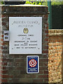 TM0012 : Mersea Island Museum sign by Adrian Cable