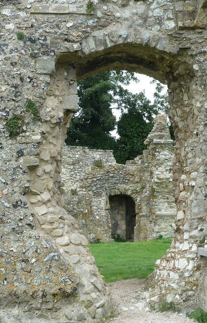 St Pancras Priory, Lewes - A view through the walls