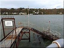 SH5873 : Bangor Pier landing stage by Oliver Mills