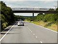 TL8566 : Bridge over the A134 near to Fornham St Martin by David Dixon