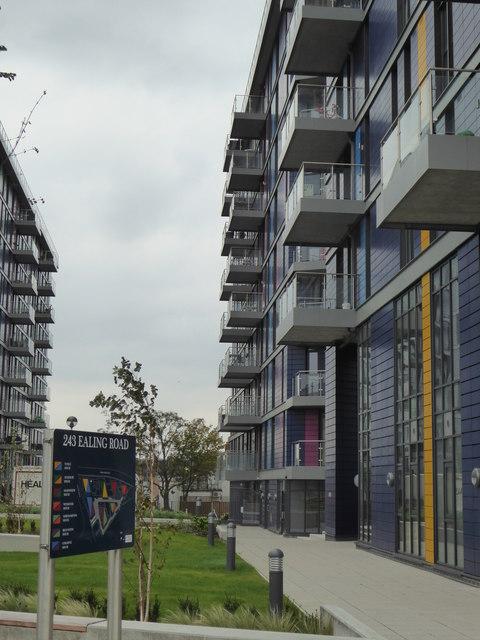 Blocks of flats at 243 Ealing Road Alperton