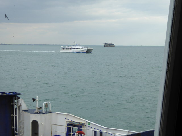 Spitbank Fort seen from car ferry to Portsmouth