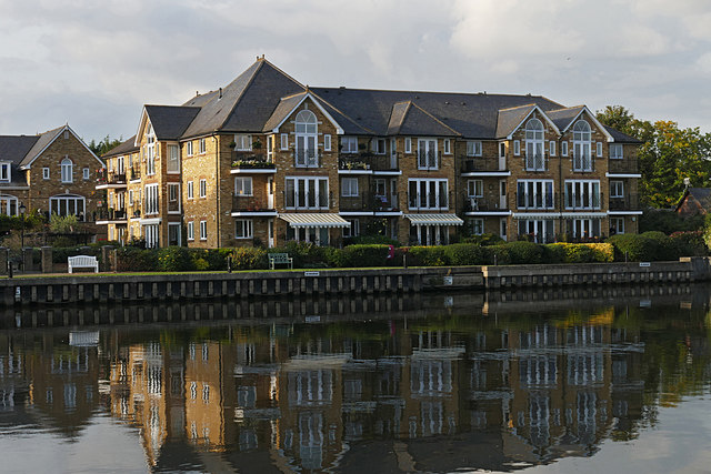 Flats beside the Thames